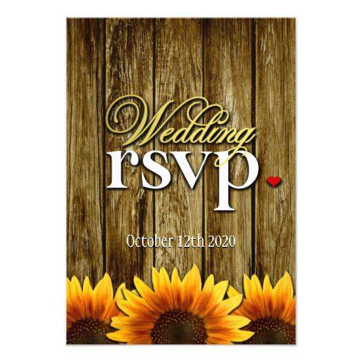 country_and_western_wood_sunflower_wedding_invitations_rsvp_cards