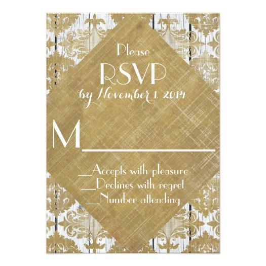 vintage_gold_damask_and_white_wood_wedding_rsvp_and_invitations